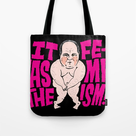 Rush VS. Feminism  Tote Bag