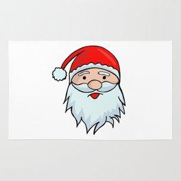 Santa Claus Face - Christmas Xmas Winter Rug