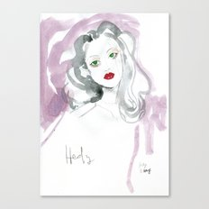 Hedy Lamarr in Watercolour Canvas Print