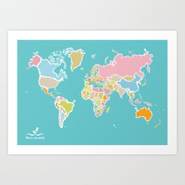Map Print Art Print