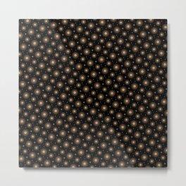 Glowing stars mandala pattern Metal Print