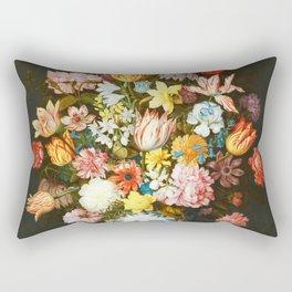 Ambrosius Bosschaert The Elder - Bouquet of flowers on a ledge Rectangular Pillow