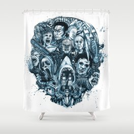 """""""The Essence of Horror"""" [Red Version] by Cap Blackard Shower Curtain"""