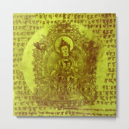 The Enlightened (Green) Metal Print