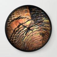 turkey Wall Clocks featuring Turkey by Nichole B.