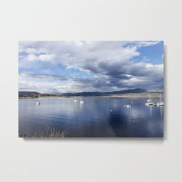 Sailboats moored on Lake Granby in Grand County Colorado - Metal Print