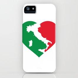 Italia Heart - I Love Italy - Io amo l'Italia iPhone Case