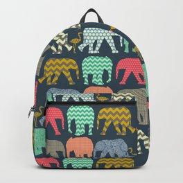 baby elephants and flamingos Backpack