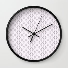 Winter 2018 Color: Pink Cream on Diamonds Wall Clock