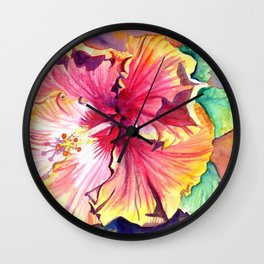 Tropical Hibiscus 13 Wall Clock