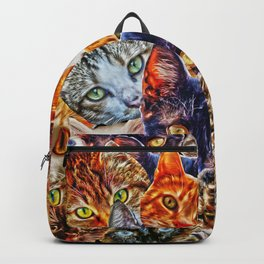 Kitty Cat Collage Backpack