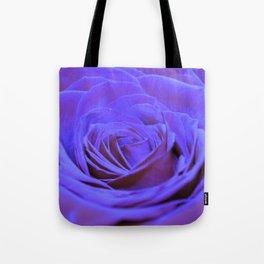Purple Blue Rose Tote Bag