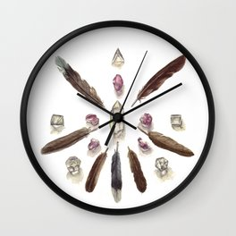 Amethyst Crystal Grid Wall Clock