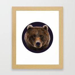 Brown Bear illustration by artist Robert Clear Framed Art Print