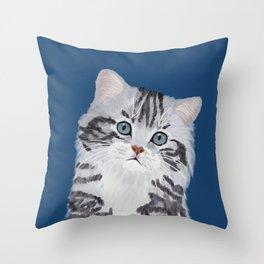 Baby Kitten Throw Pillow