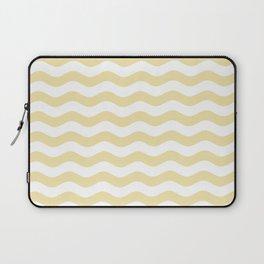 Wavy Stripes (Vanilla/White) Laptop Sleeve