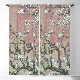 Almond Blossom - Vincent Van Gogh (pink pastel and cream) Blackout Curtain