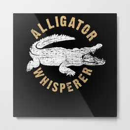 Alligator Whisperer Metal Print