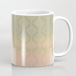 Moss/Peach Ombre needlepoint Coffee Mug