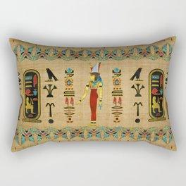 Egyptian Mut Ornament on papyrus Rectangular Pillow