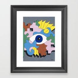 Patterned Eyes | The Right Eye 2/2 Framed Art Print