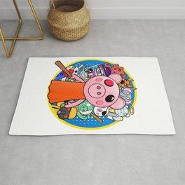 Cute Piggy with friends Rug