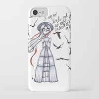 jane eyre iPhone & iPod Cases featuring Jane Eyre by Natalie Easton