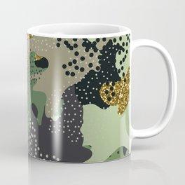 Modern military camouflage art glitter illustration pattern Coffee Mug