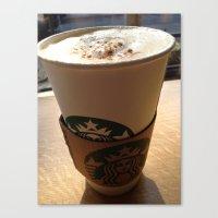 starbucks Canvas Prints featuring Starbucks by Josj