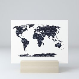 Shibori Map of World 9 Mini Art Print