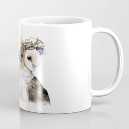 Flower Crowned Barn Owl Coffee Mug