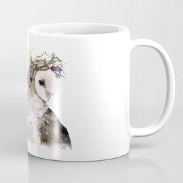 Flower Crowned Barn Owl Coffee Mug