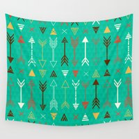 arrows Wall Tapestries featuring Arrows by Claire Lordon