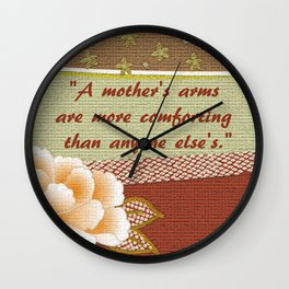 A Mother's Arms Wall Clock