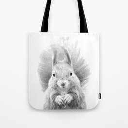 Black and White Squirrel Tote Bag