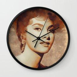 Gina Lollobrigida, Hollywood Legend Wall Clock