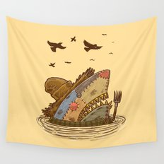 The Scarecrow Shark Wall Tapestry