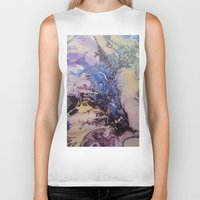 exo Biker Tanks featuring Exo- Birth Series I by Melina Green
