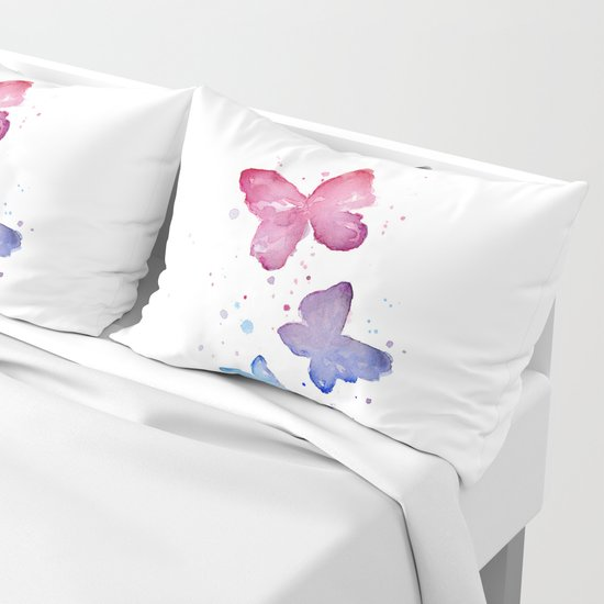 Butterflies Watercolor Abstract Splatters by olechka