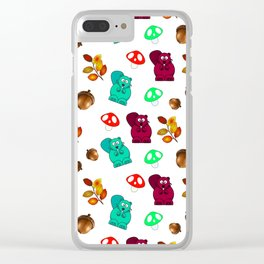 Funny Forest Medley Clear iPhone Case