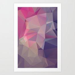 Pink Purple Pyramid Abstract Art Art Print