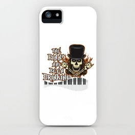 Piano Player Skull Skeleton Grand Piano Pianist Gift iPhone Case