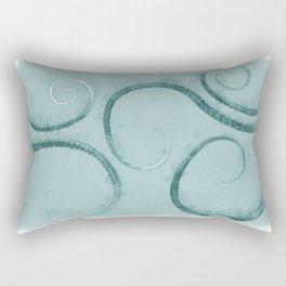 Octopus Tentacles Teal Rectangular Pillow