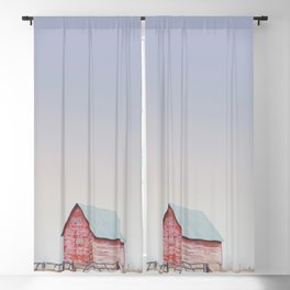 Little Red Barns Blackout Curtain