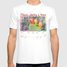 Three Spiky Ones Mens Fitted Tee White MEDIUM