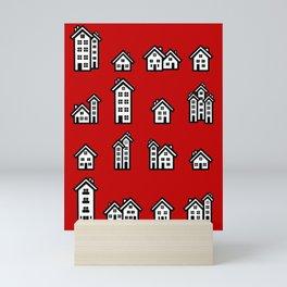 Little Houses Mini Art Print