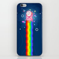 puppycat iPhone & iPod Skins featuring PuppyCat by NicoleGrahamART