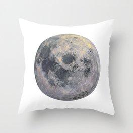Golden Moon Throw Pillow