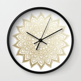 BOHO NIGHTS GOLD MANDALA Wall Clock