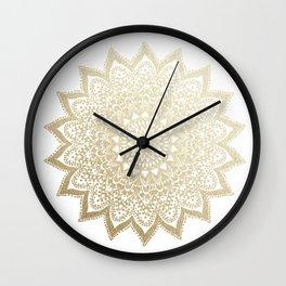 BOHO NIGHTS GOLD MANDALA Wall Clock